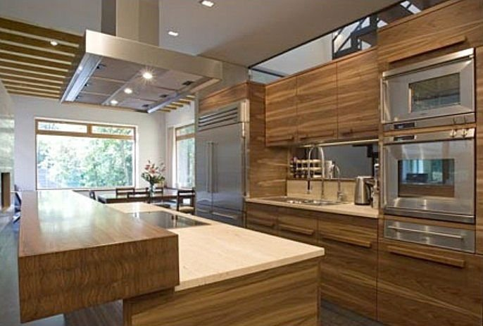 Modernas cocinas de madera kitchen design luxury homes - Cocinas espectaculares modernas ...