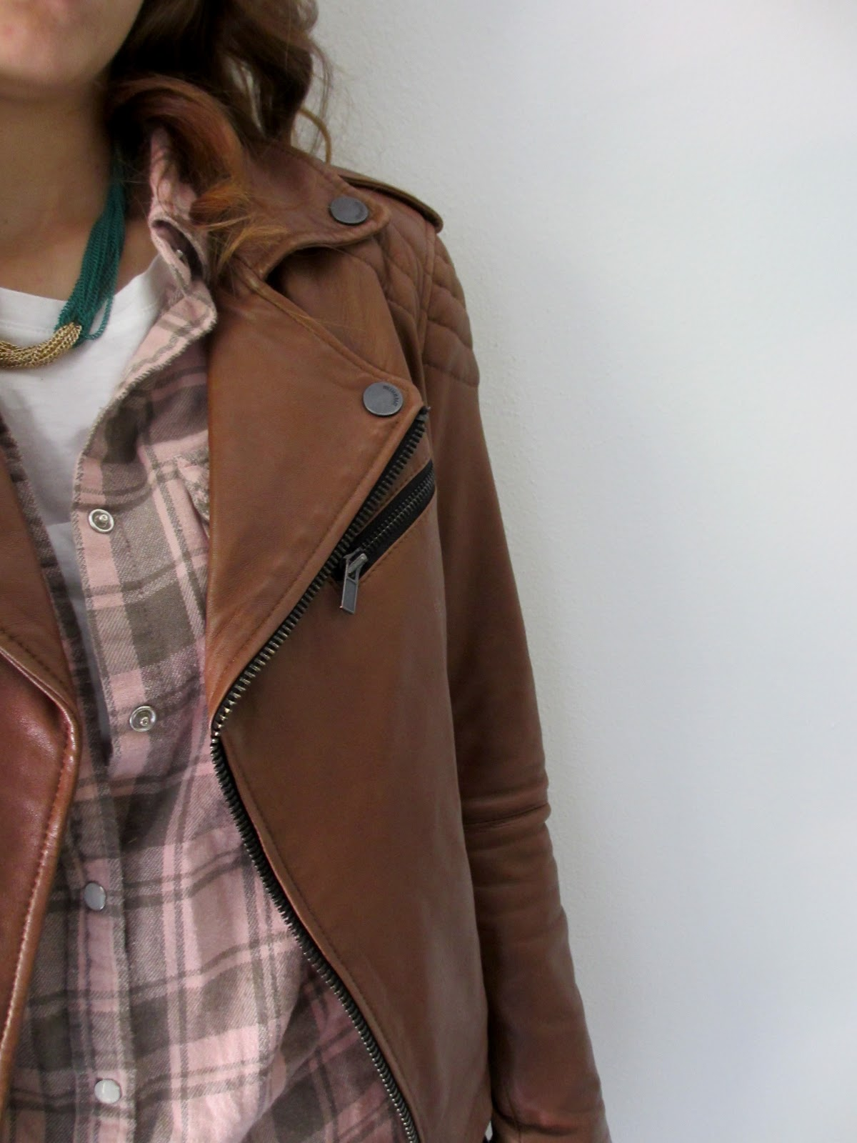 Leather jacket target - Leather Jacket William Rast For Target Flannel Shirt Old Target Necklace Charmin Charlies Belt Thrifted White Tee Urban Outfitters