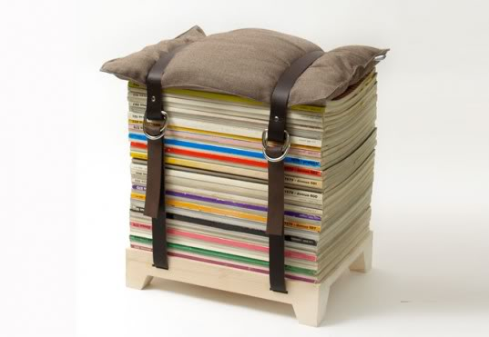 Cool recycled stool ideas recycling center - How to reuse magazines seven inspired ideas ...