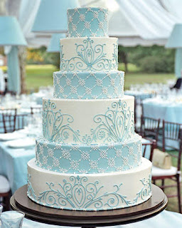 Delicious Blue Wedding Cakes Designs Ideas