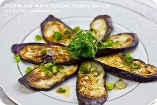 Eggplant with Sesame Ponzu Sauce | Roxanashomebaking.com