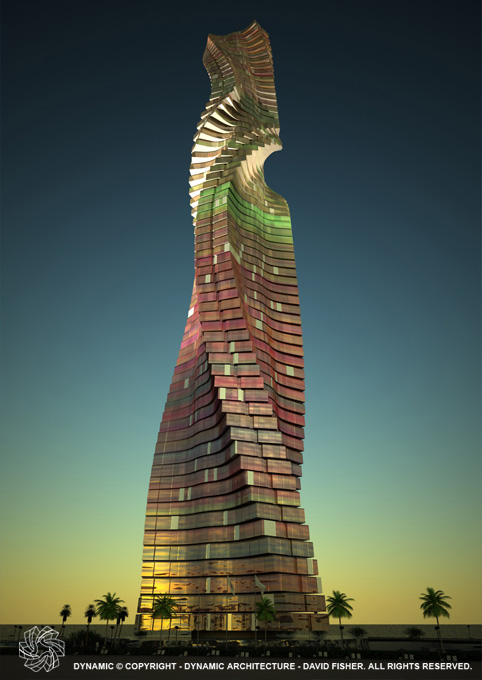 Rotating tower dubai uae Dubai buildings