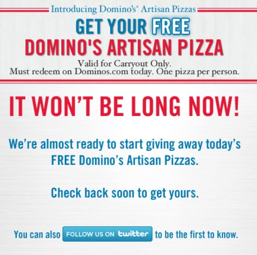 Dominos coupons facebook