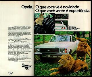 propaganda Chevrolet Opala - 1975. brazilian advertising cars in the 70. os anos 70. história da década de 70; Brazil in the 70s; propaganda carros anos 70; Oswaldo Hernandez;