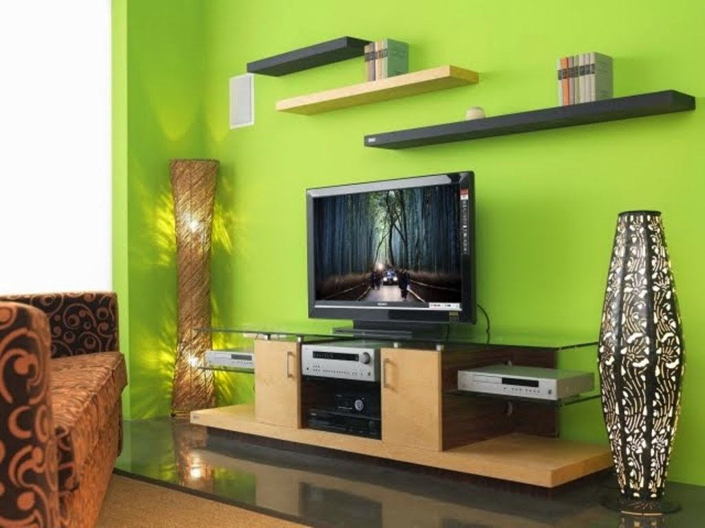 Contemporary Green Living Room Design Ideas