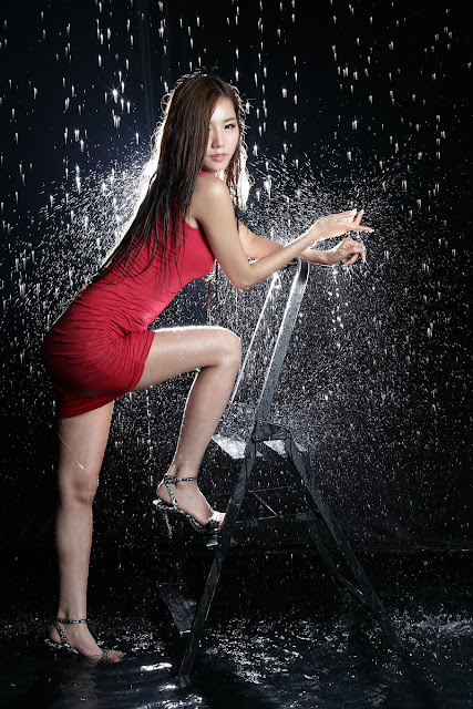 2 Lee Ji Min in Red-very cute asian girl-girlcute4u.blogspot.com