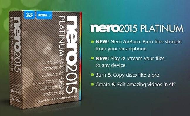 Nero 2015 Platinum 16.0 Features Image