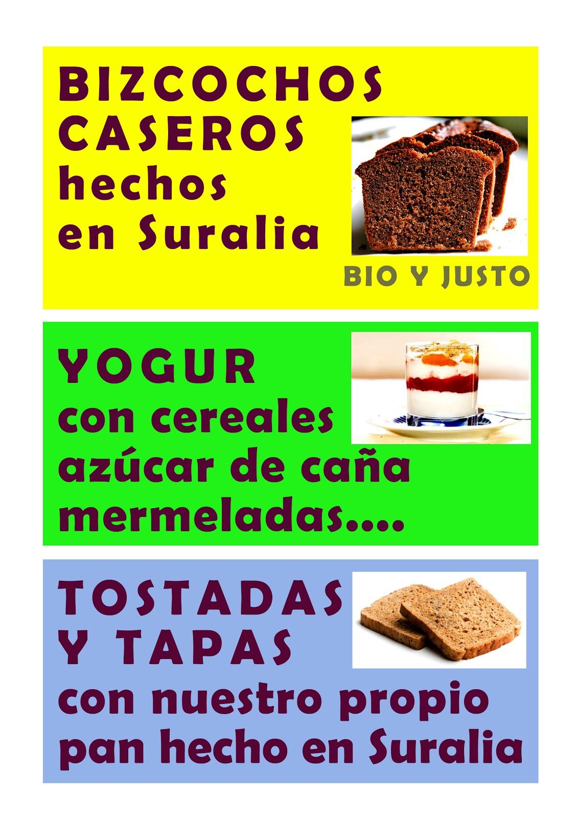 Novedades Cafetería Suralia