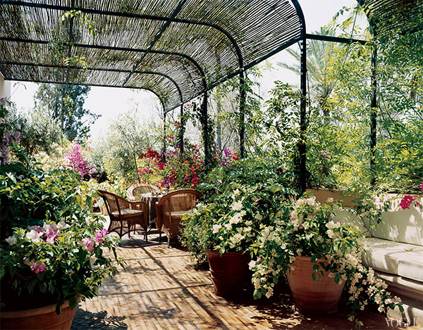 Decor Inspiration Marella Agnelli's Marrakech Garden house