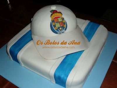 Bolos Chapeu Futebol Clube do Porto, Bolos Chapeus, Bolos Bones, Bolos Futebol, Bolos Decorados Futebol, Designer de Bolos, Cake Designers