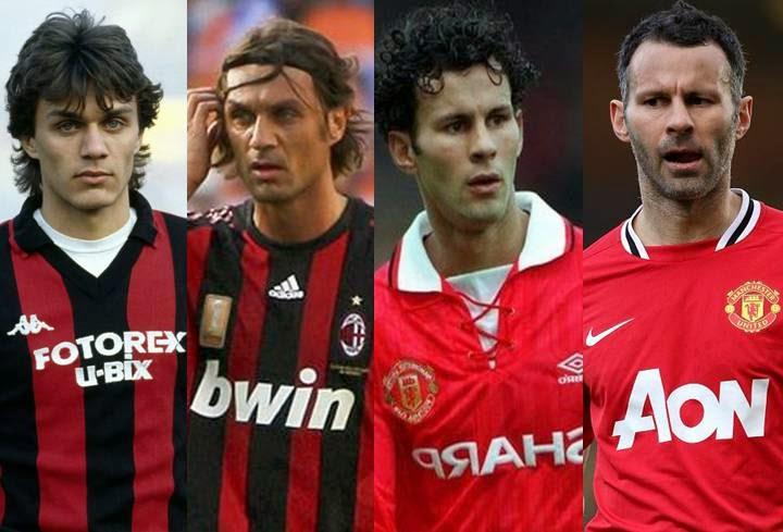 Paolo Maldini (AC Milan), Ryan Giggs (Manchester United)