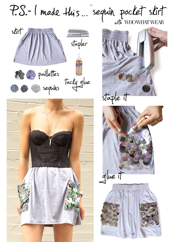 How to add sequin to your skirt