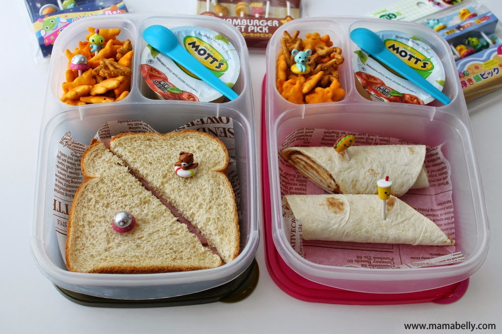Fun Bento Pick Lunch in Easylunchboxes for School - Mamabelly.com