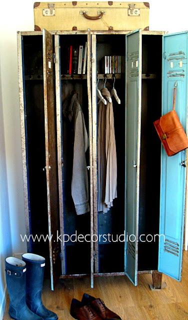 Venta de taquillas metálicas en valencia para vestuarios. Decoración vintage estilo industrial