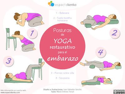 posturas de yoga restaurativo para el embarazo