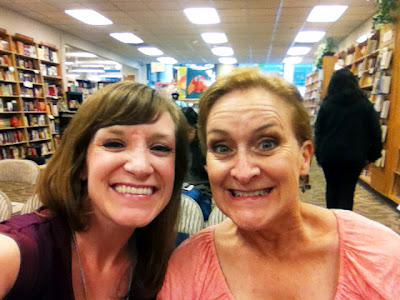 Kylie and her mom at the bookstore