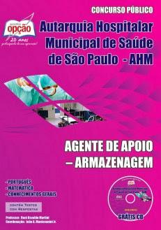 Apostila AHM São Paulo cargo Agente de Apoio Armazenagem (SP)