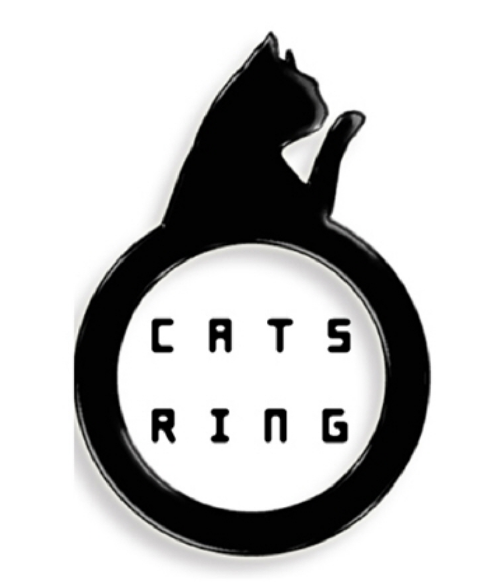 ODDLEE Cats Ring / Grooming Cat - Black 5T