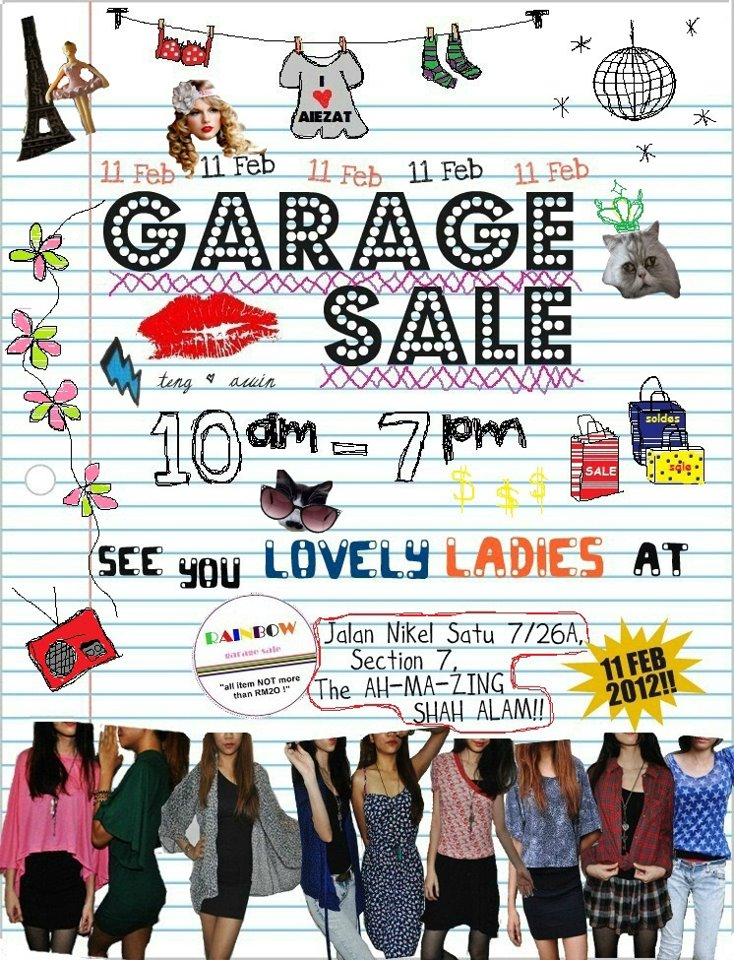 rainbow garage sale 24store