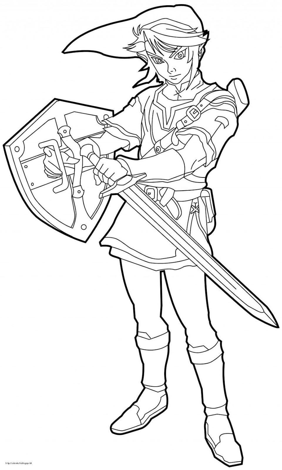 Giugno 2012 for Zelda coloring page