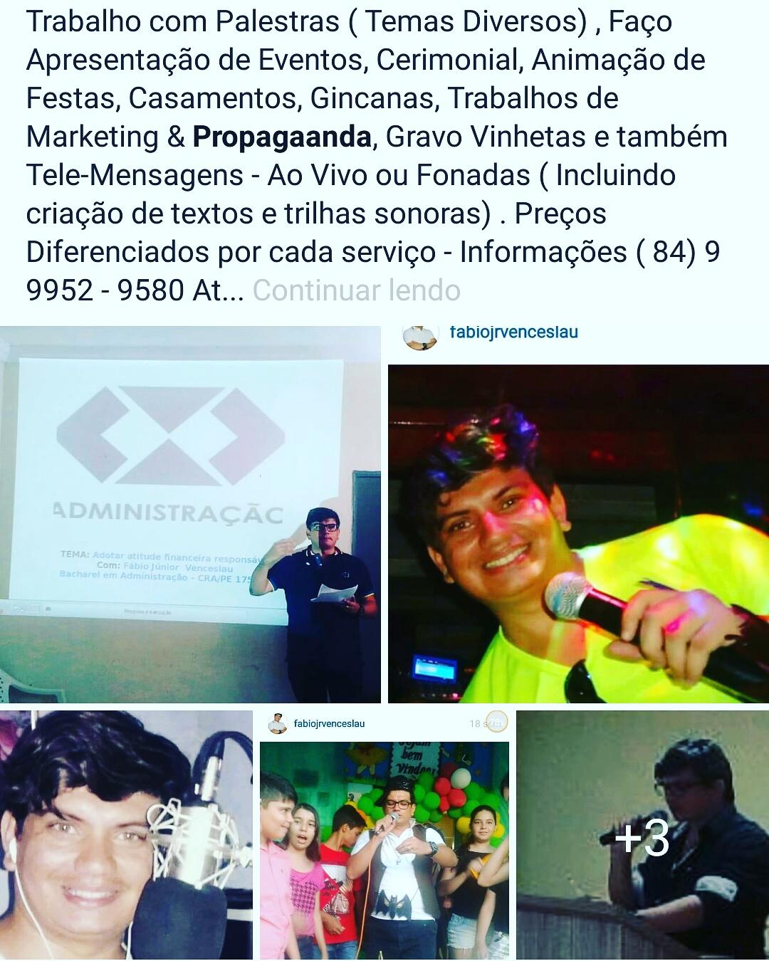 Blog Siga Fábio Júnior Venceslau ( Cobertura de Eventos)