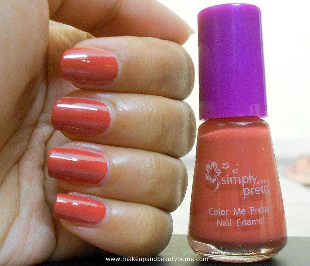 Avon Simply Pretty Mango Mania Nail Enamel Review and NOTD - Makeup ...