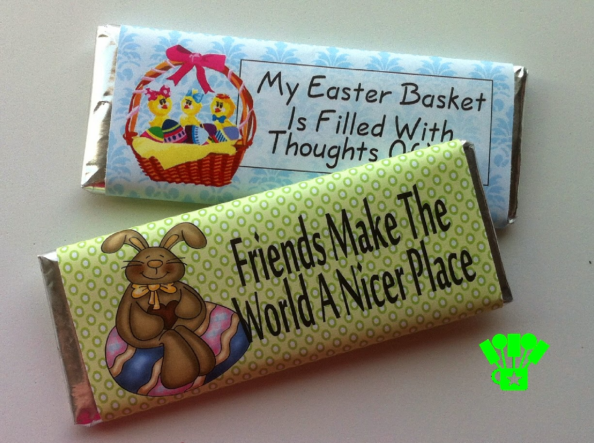 Easter Candy Bar Wrapper Printables