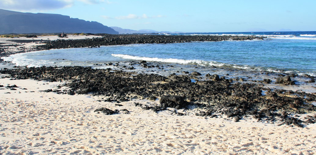 Nude beach Caleton Blanco (Lanzarote, Canary Islands)