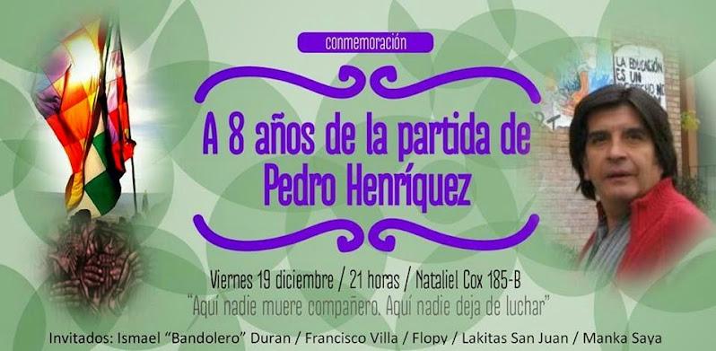 SANTIAGO CENTRO: A 8 AÑOS DE LA PARTIDA DE PEDRO HENRIQUEZ