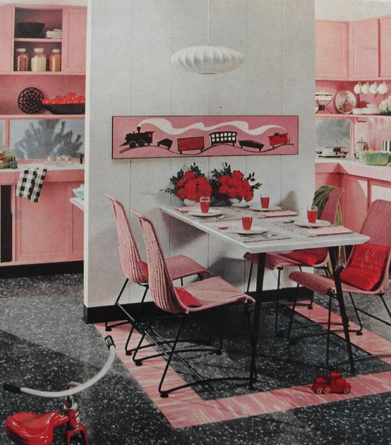 Theme design 11 ideas to decorate breakfast nook house for Kitchen decoration pink