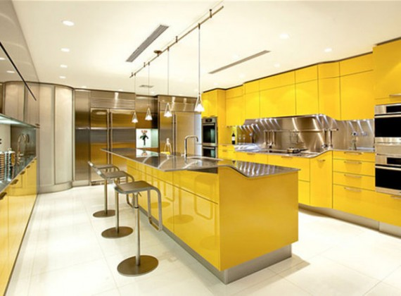 Gorgeous Yellow Modern Kitchen Design Decorating Inspiration Home Interior Design