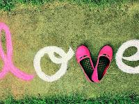 Love Written on green grass