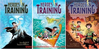 bookcovers for the HEROES IN TRAINING series