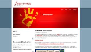 Blogy Portfolio Blogger Template