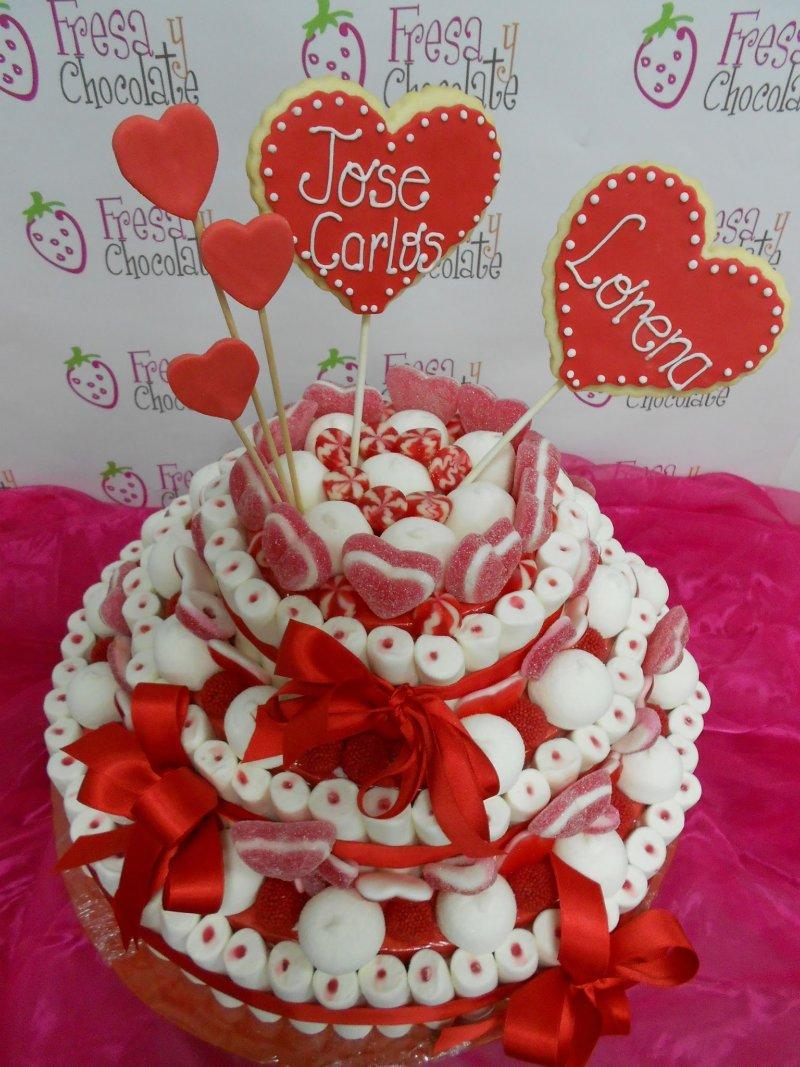 El blog de fresa y chocolate tarta de chuches para boda - Tartas de chuches fotos ...