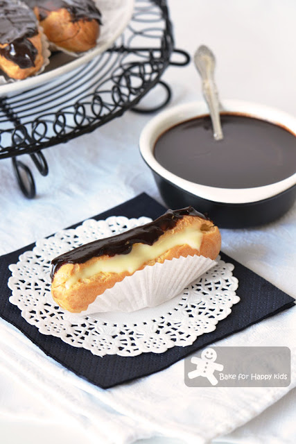 ultimate chocolate eclair white chocolate cream
