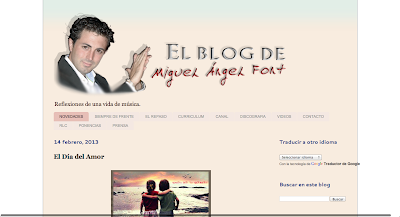 El Blog de Miguel Angel Font. Un lugar dónde la Música, Sevilla y Andalucía tiene un privilegiado espacio. Sus reflexiones nos acercarán el lado más humano, técnico, descriptivo, humorístico, musical...  Disfruten este espacio ilustrado con imágenes, vídeos, artículos, radio, y todo lo relacionado con su vida. Con su música.
