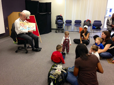 Story time at Spring Lake Library