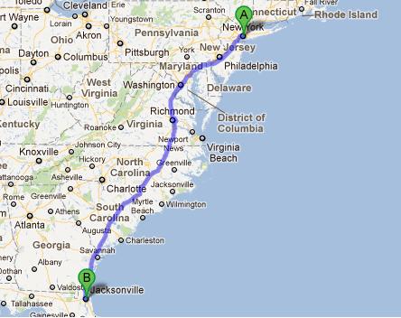 Entulkasbutulkas Kara Yolu Ile Seyahat New York  Florida