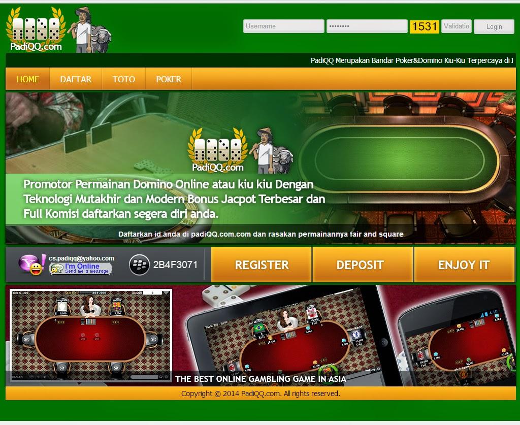 Daftar Situs Judi Domino Poker Online 99 Kiu Kiu Terbaru dan Terpercaya PadiQQ.com