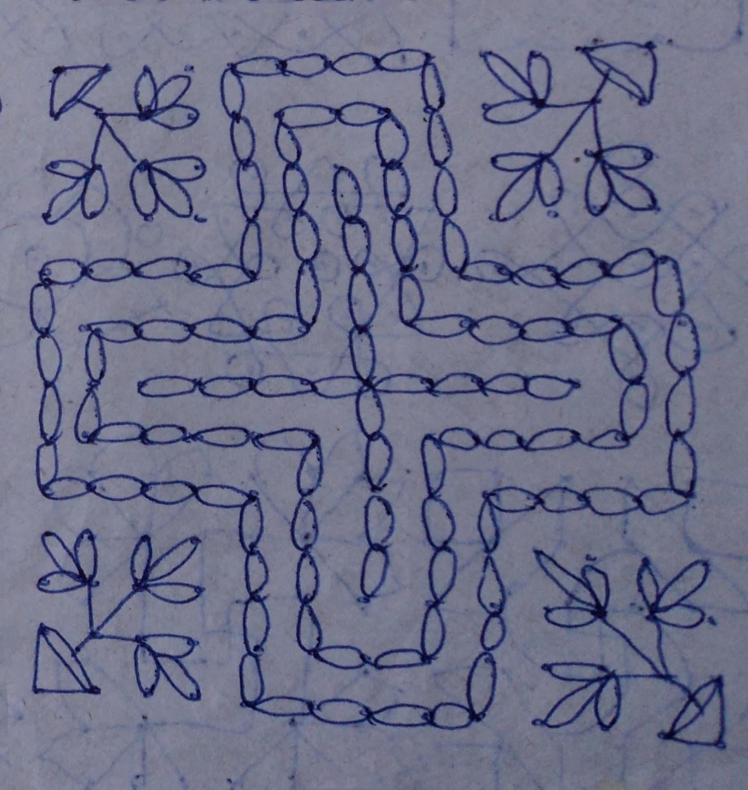 Andhra Muggulu Design Muggu 1