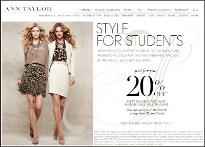 Click to view this landing page for a Feb. 10, 2011 Ann Taylor email full-sized