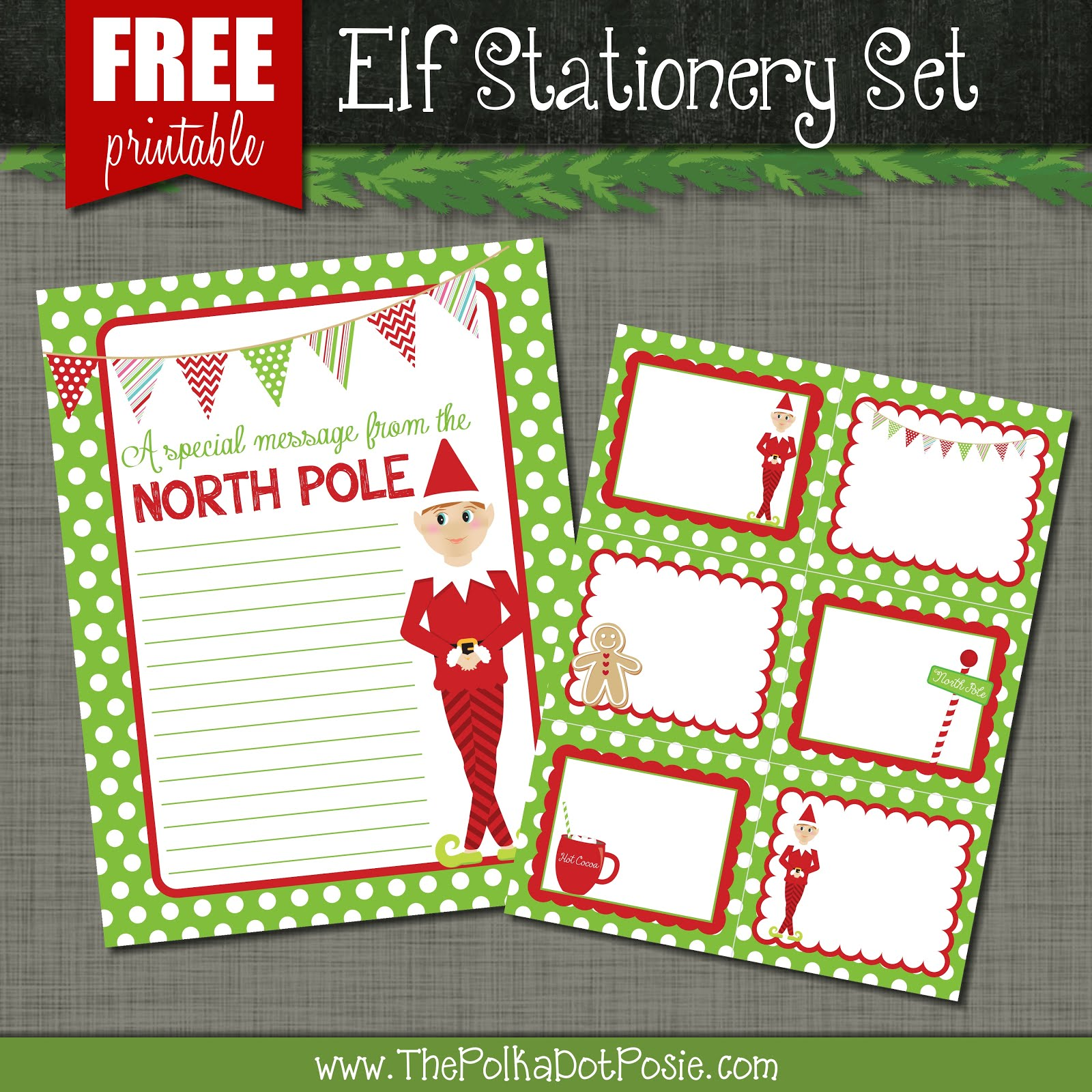 Download our Elf Stationery Set!