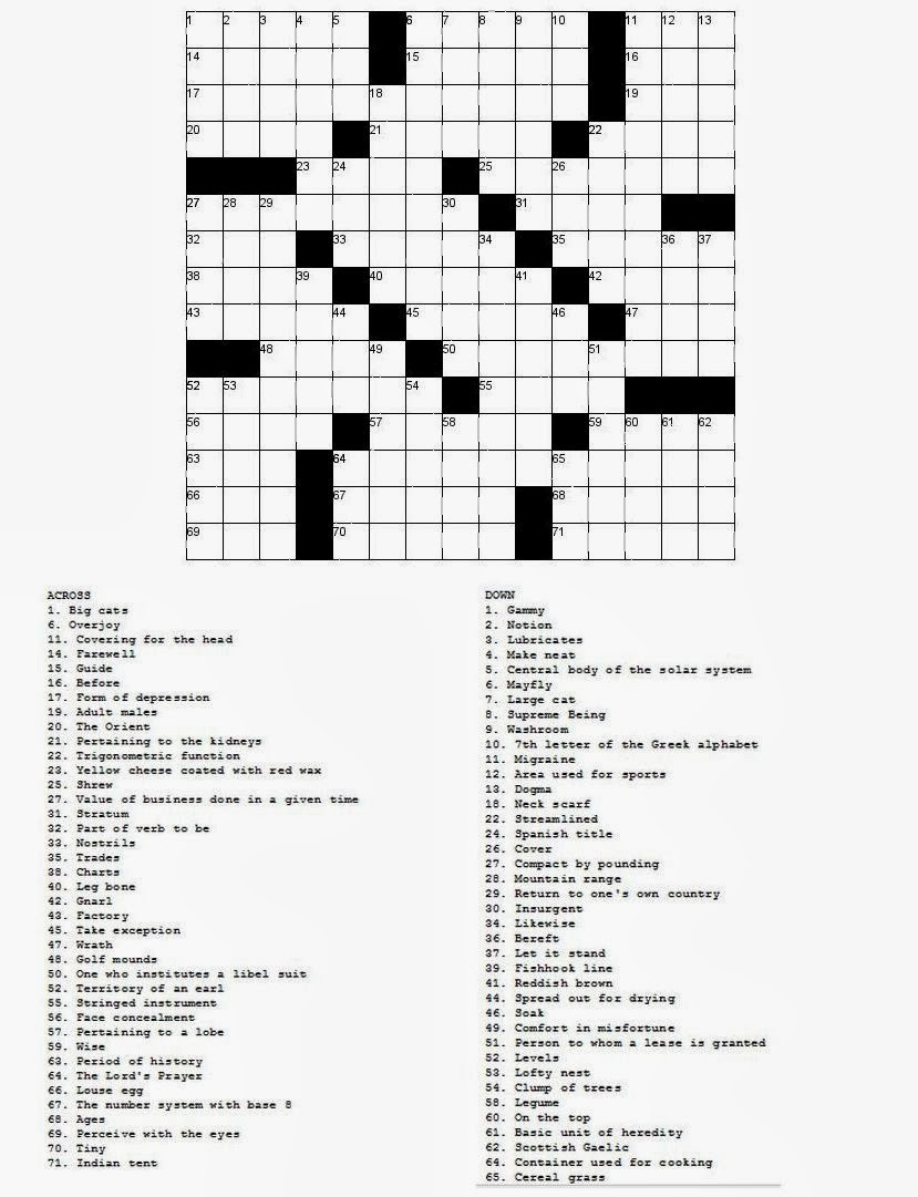 Fill In Crossword Sc 1 St Puzzles To Print Halloween