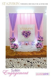 Pelamin Mini Eksklusif Pertunangan/Engagement/Pernikahan Pelamin Lovely warna pink purple