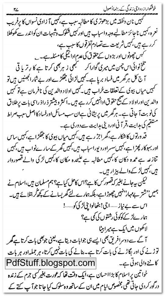 Preface of Urdu book Khushgawar Izdiwaji Zindagi K Rehnuma Usool