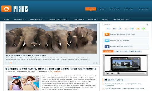 Plains Blogger Template