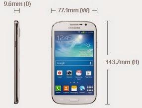 Dimensi Samsung Galaxy Grand Neo
