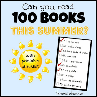 daily autism freebie summer reading challenge can you read 100 books with printable checklist. Black Bedroom Furniture Sets. Home Design Ideas
