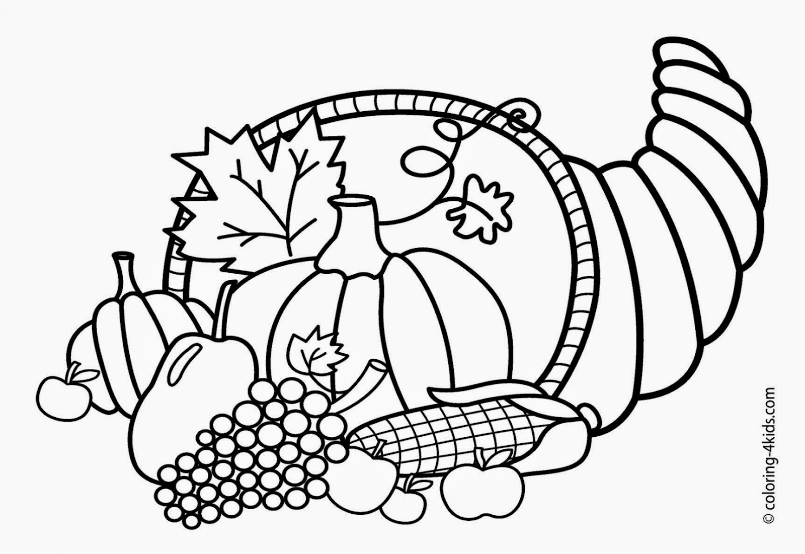 Thanksgiving coloring pages for kids printable free free for Thanksgiving coloring page free